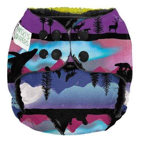 Nicki's Diapers One Size Snap Pocket - Northern Lights