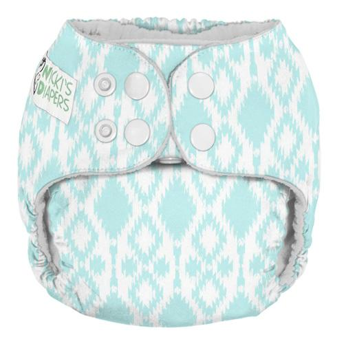 Nicki's Diapers One Size Snap Pocket - Rain