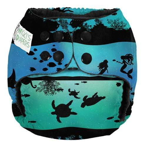 Nicki's Diapers One Size Snap Pocket - Underwater World