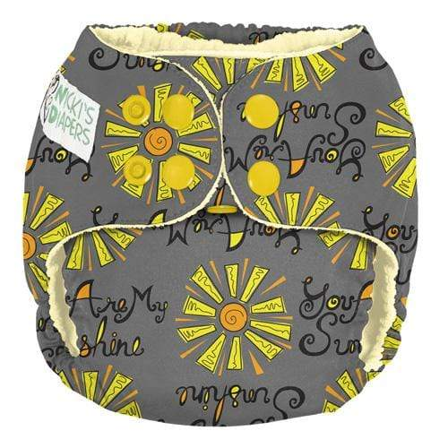 Nicki's Diapers One Size Snap Pocket - You Are My Sunshine