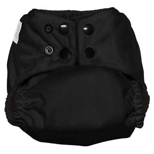 Nicki's Diapers One Size Snap Ultimate All in One - Black Licorice