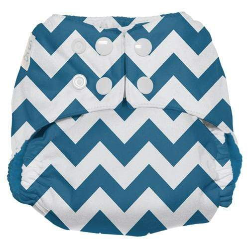Nicki's Diapers One Size Snap Ultimate All in One - Blue Razz Chevron