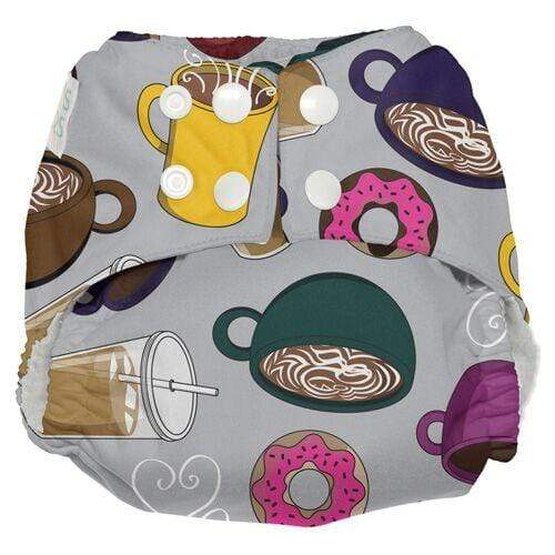 Nicki's Diapers One Size Snap Ultimate All in One - But Coffee First
