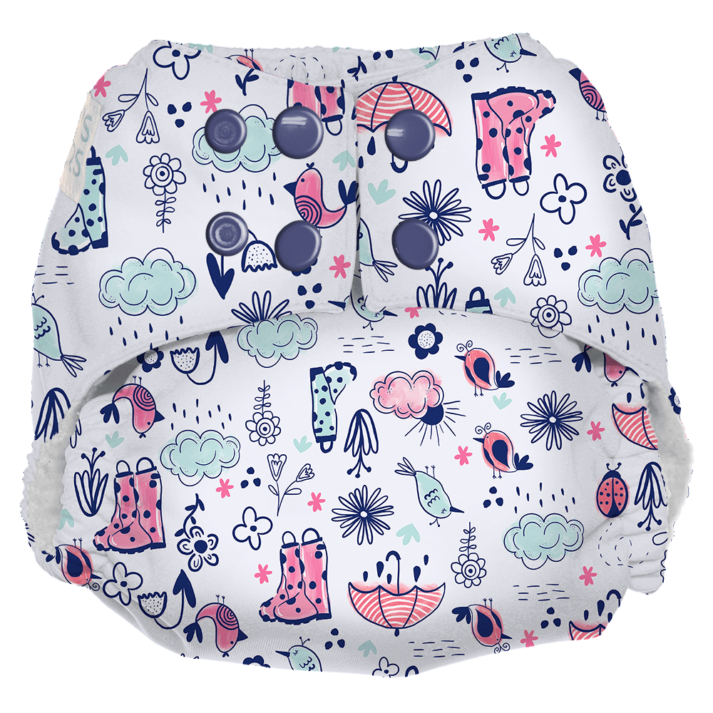 Nicki's Diapers One Size Snap Ultimate All in One Cloth Diaper - Rain or Shine