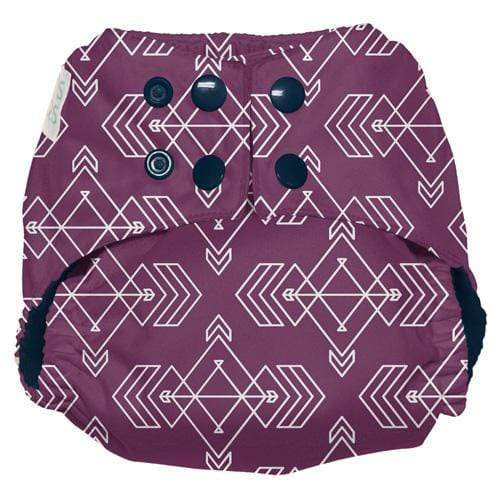 Nicki's Diapers One Size Snap Ultimate All in One - Compass Mulberry
