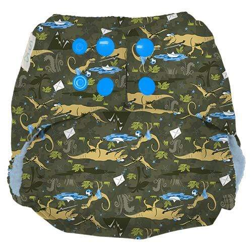 Nicki's Diapers One Size Snap Ultimate All in One - Dinoduke