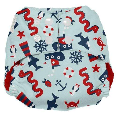 Nicki's Diapers One Size Snap Ultimate All in One - Nautical Nessie