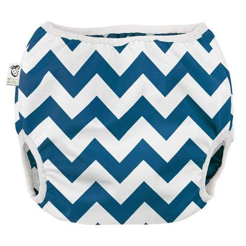 Nicki's Diapers Pull on Diaper Cover - Blue Razz Chevron