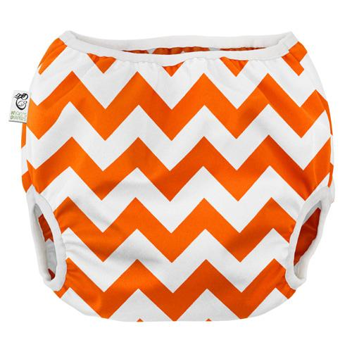 Nicki's Diapers Pull on Diaper Cover - Dreamsicle Chevron