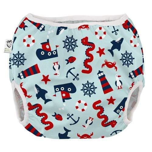 Nicki's Diapers Pull on Diaper Cover - Nautical Nessie