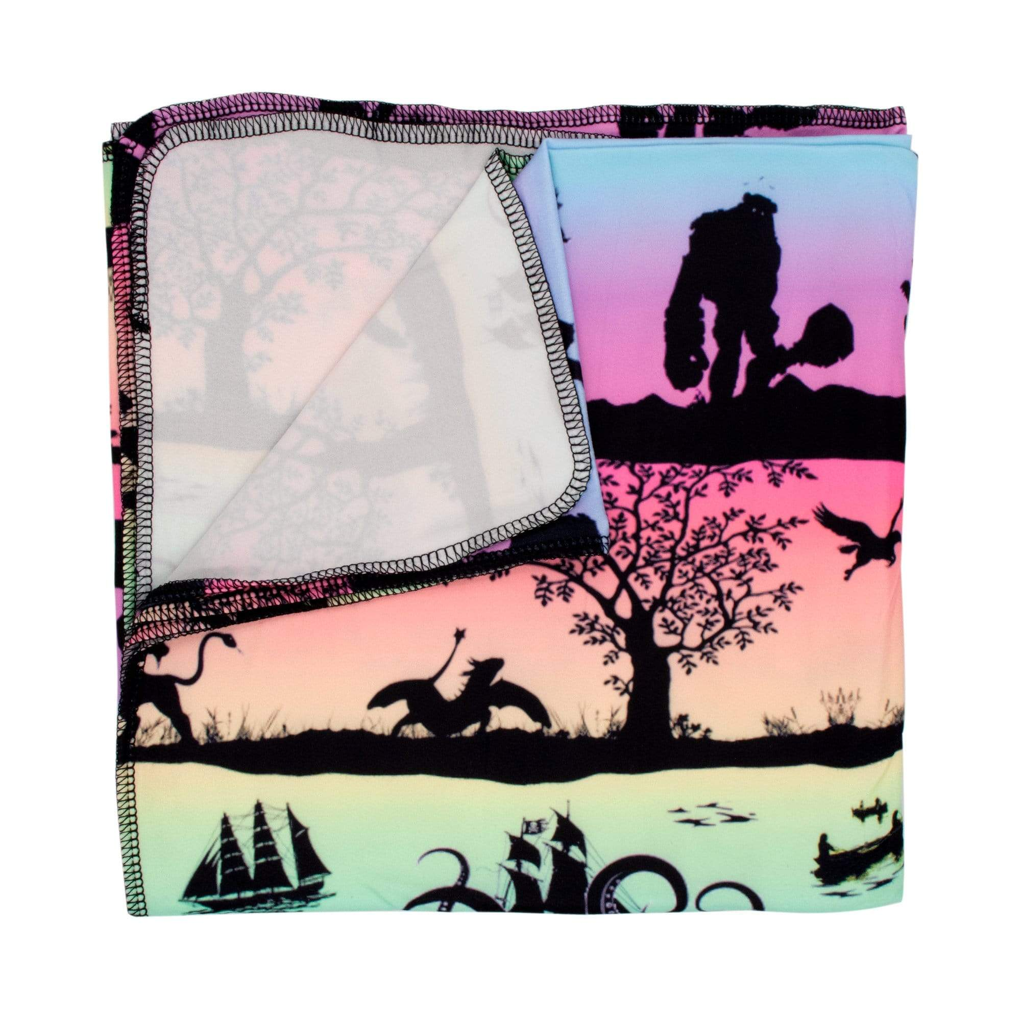 Nicki's Diapers Stretchy Swaddle Blanket - Storybook Sunrise