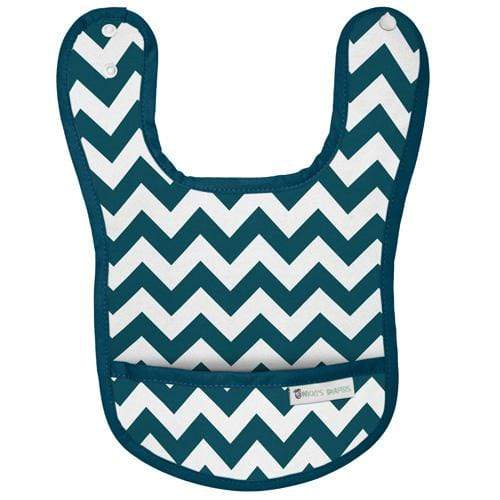 Nicki's Diapers Waterproof Bibs - Blue Razz Chevron