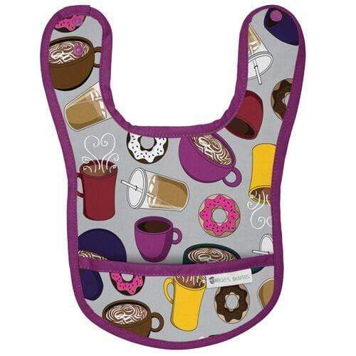 Nicki's Diapers Waterproof Bibs - But Coffee First - Grape Soda