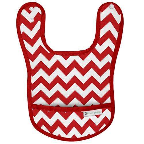 Nicki's Diapers Waterproof Bibs - Candy Cane Chevron