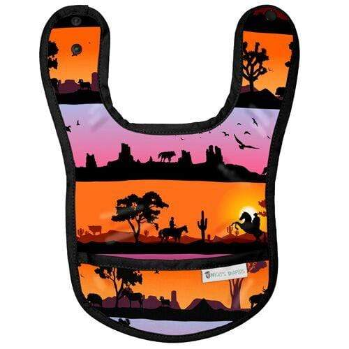 Nicki's Diapers Waterproof Bibs - Desert Twilight