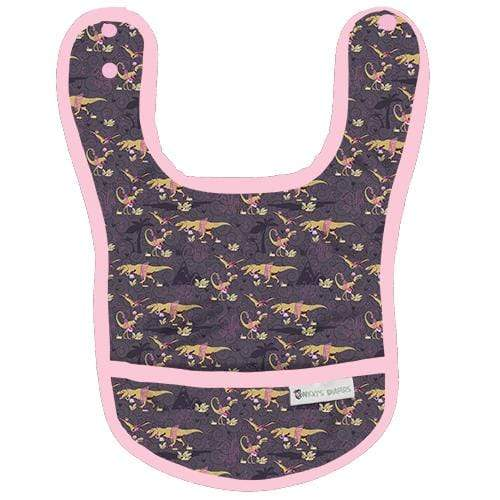 Nicki's Diapers Waterproof Bibs - Dinorella