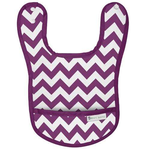 Nicki's Diapers Waterproof Bibs - Grape Chevron