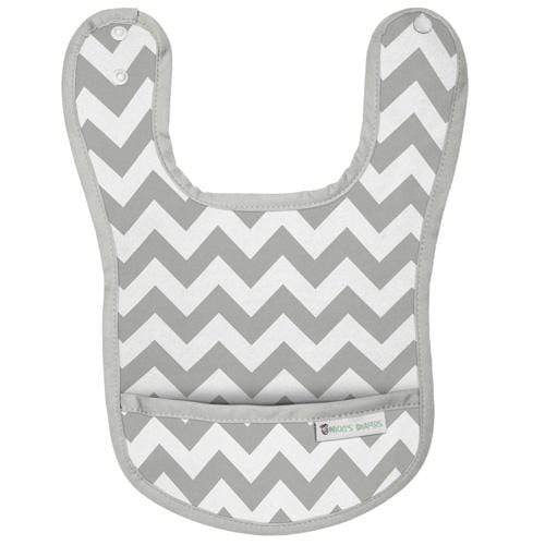 Nicki's Diapers Waterproof Bibs - Gray Chevron