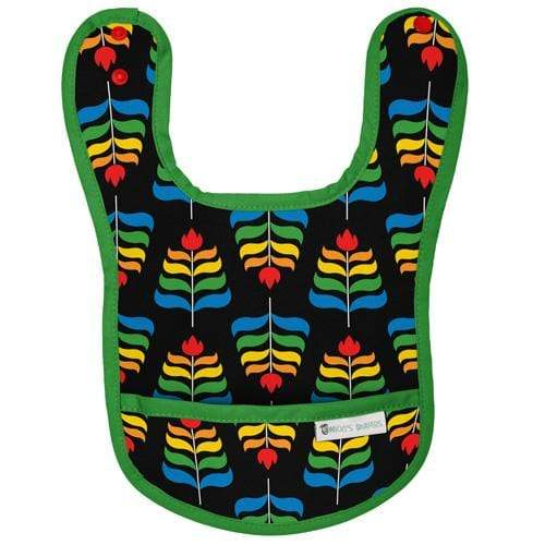 Nicki's Diapers Waterproof Bibs - Midnight Rainbow Green