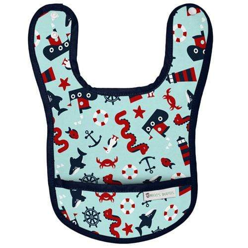 Nicki's Diapers Waterproof Bibs - Nautical Nessie