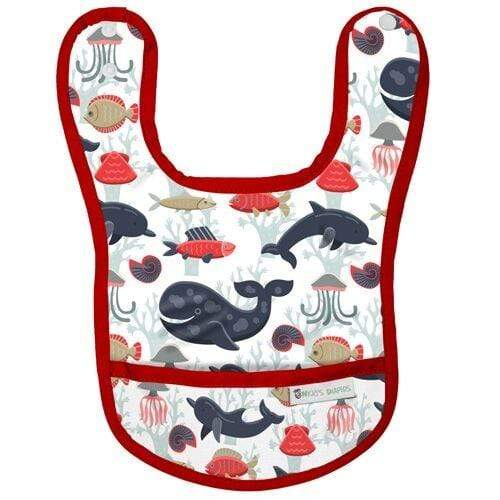 Nicki's Diapers Waterproof Bibs - Whale of a Tale