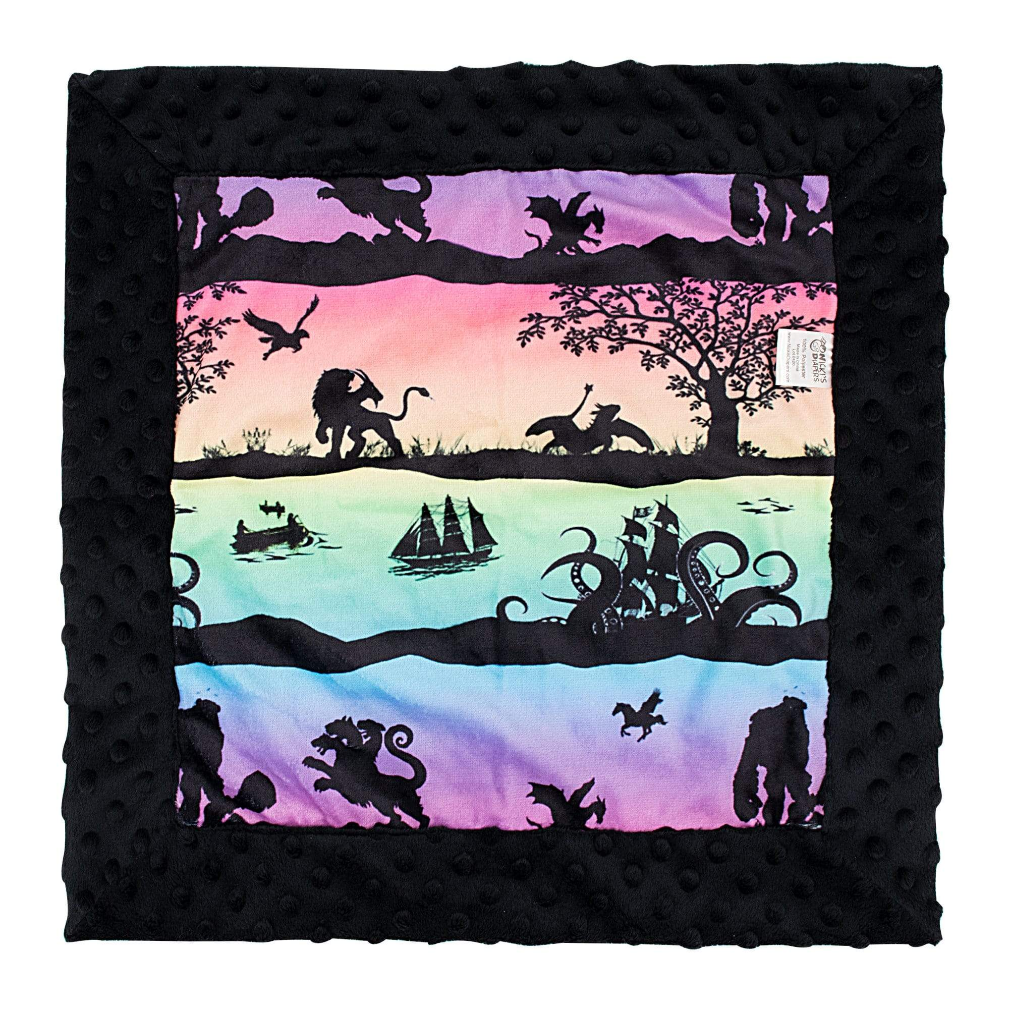 Nicki's Diapes Baby Bubble Blanket - Storybook Sunrise