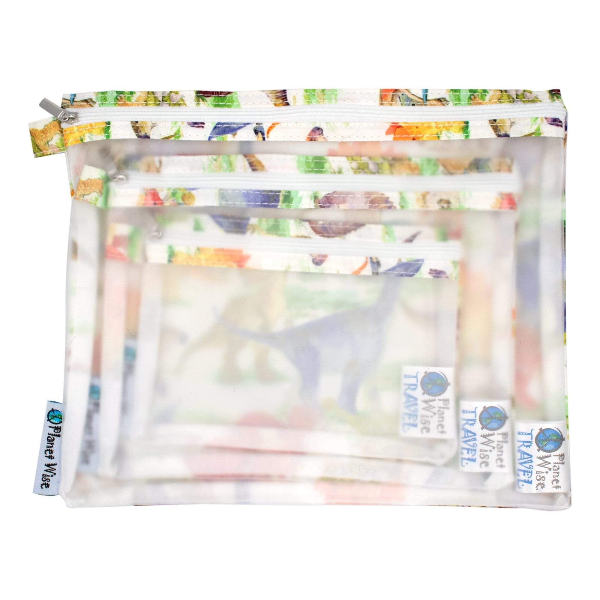 Oh Lily! Clear Pouches - 3 Pack - Dino Mite