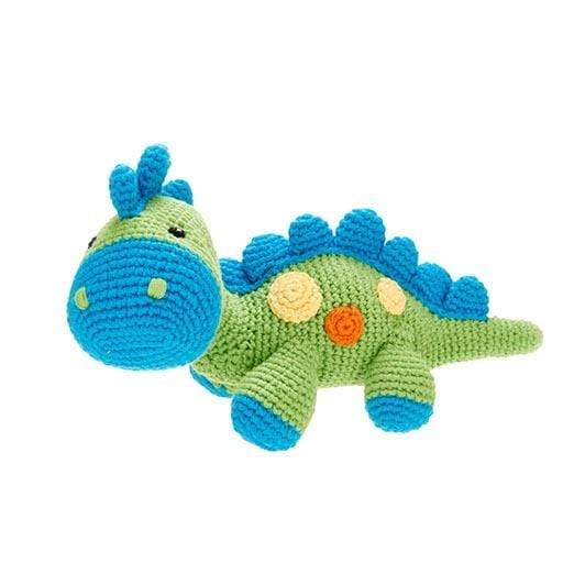 Pebble Dinosaur Rattle - Steggy Green