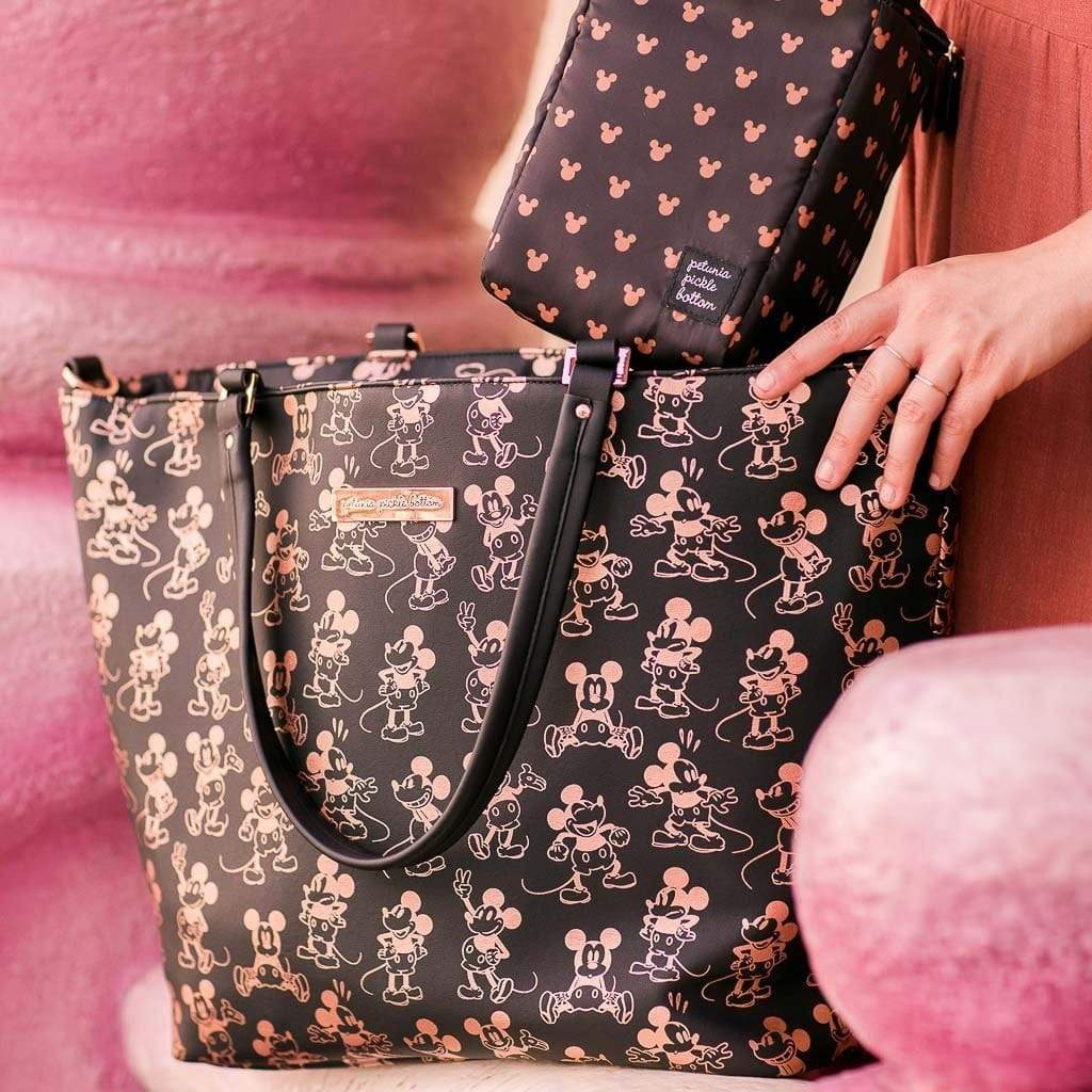 Petunia Pickle Bottom Downtown Tote - Metallic Mickey Mouse