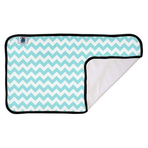 Planet Wise Designer Changing Pad - Teal Chevron