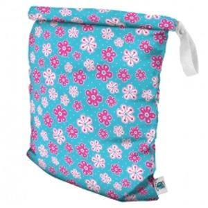 Planet Wise Large Roll-Down Wet Bag - Aqua Petals L