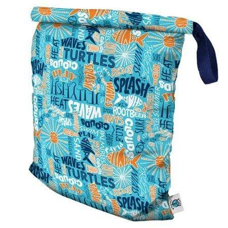 Planet Wise Large Roll-Down Wet Bag - Aqua Splash L