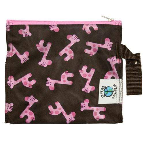Planet Wise Mini Lite Wet bag - Pink Giraffe