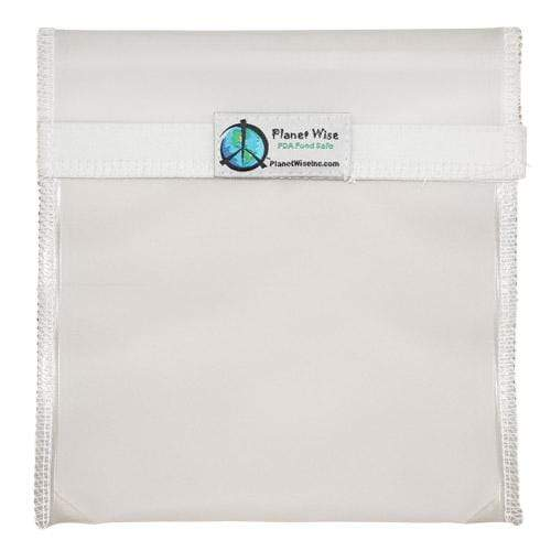 Planet Wise Reusable Clear Hook and Loop Quart Bag - Clear
