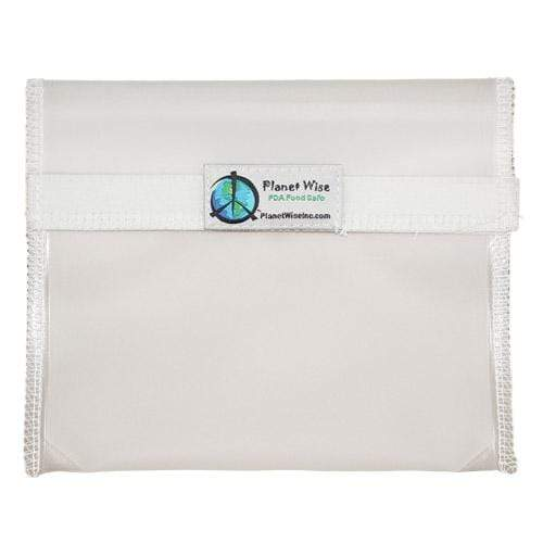 Planet Wise Reusable Clear Hook and Loop Sandwich bag - Clear