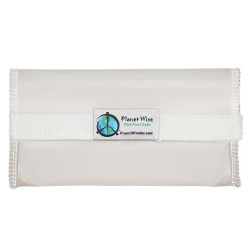Planet Wise Reusable Clear Hook and Loop Snack Bag - Clear