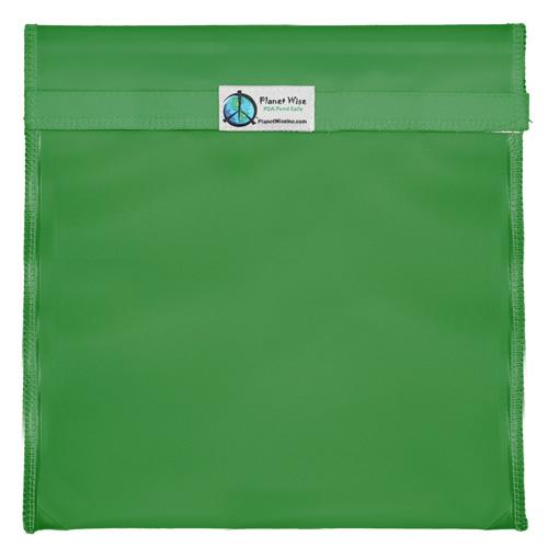 Planet Wise Reusable Tinted Hook and Loop Gallon Bag - Green