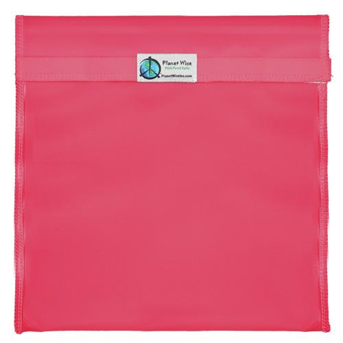 Planet Wise Reusable Tinted Hook and Loop Gallon Bag - Pink