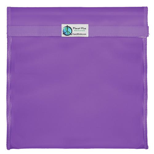 Planet Wise Reusable Tinted Hook and Loop Gallon Bag - Purple