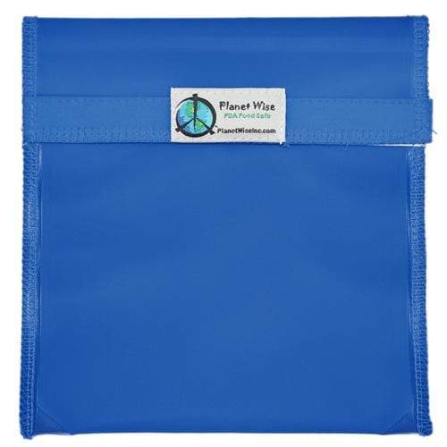Planet Wise Reusable Tinted Hook and Loop Quart Bag - Blue