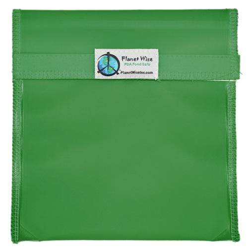 Planet Wise Reusable Tinted Hook and Loop Quart Bag - Green