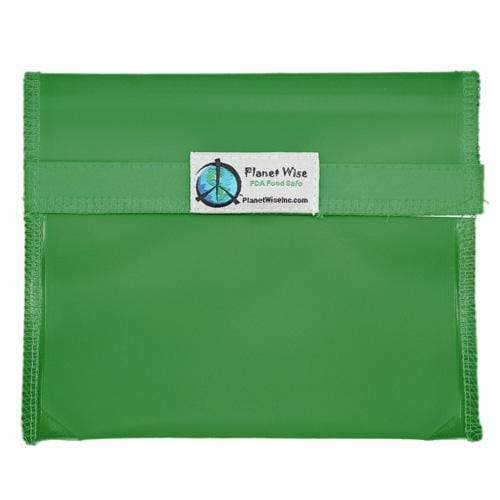 Planet Wise Reusable Tinted Hook and Loop Sandwich Bag - Green