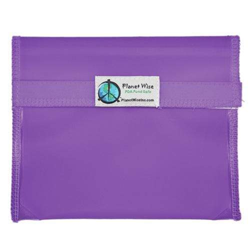 Planet Wise Reusable Tinted Hook and Loop Sandwich Bag - Purple