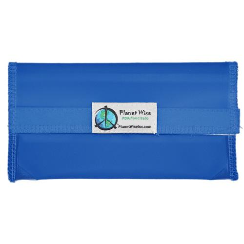 Planet Wise Reusable Tinted Hook and Loop Snack Bag - Blue