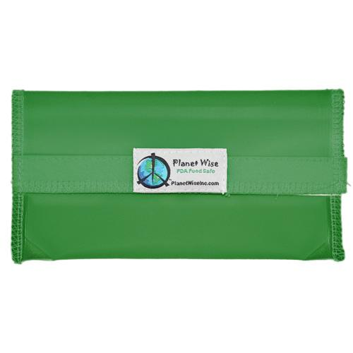 Planet Wise Reusable Tinted Hook and Loop Snack Bag - Green