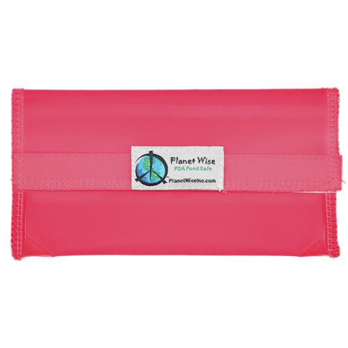 Planet Wise Reusable Tinted Hook and Loop Snack Bag - Pink