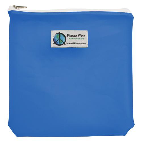 Planet Wise Reusable Tinted Zipper Quart Bag - Blue