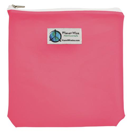 Planet Wise Reusable Tinted Zipper Quart Bag - Pink
