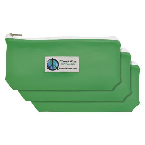 Planet Wise Reusable Tinted Zipper Snack Bag 3-Pack - Green