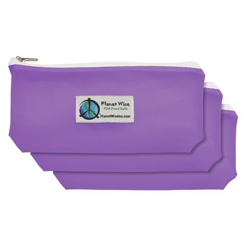 Planet Wise Reusable Tinted Zipper Snack Bag 3-Pack - Purple